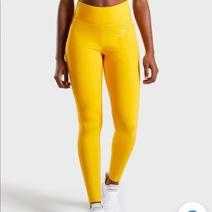 Gymshark Pants - Gymshark Dreamy Leggings 2.0 - Citrus Yellow-NEW!